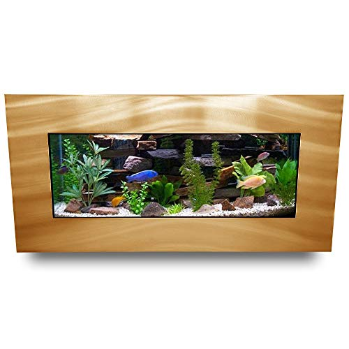 Aussie Aquarium AA-Skyline-BGOLD 2.0 Wall Mounted Aquarium Brushed Gold
