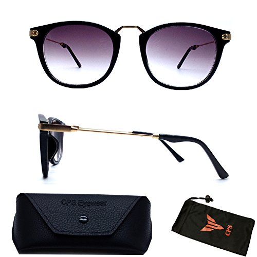 (#9588 Blk) Unique Retro Nearsighted Near sighted Short Sighted Myopia Black Sunglasses Tinted UV Protection Glasses (Strength: - Sunglasses Student Discount