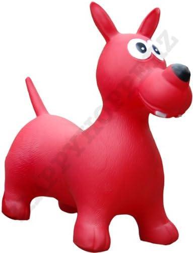 Happy Hopperz HHZ15 - Perro Hinchable (tamaño Grande), Color Rojo ...