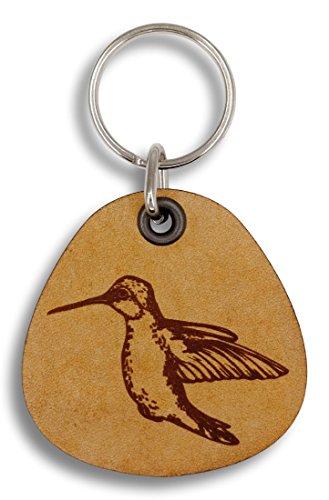 ForLeatherMore - Hummingbird - Genuine Leather Keychain - Bird keychains - Gift