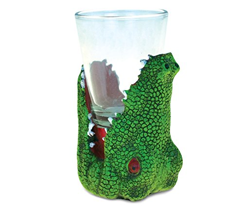 CoTa Global Alligator Head Tequila Cocktail Whisky Vodka Wild Animal Themed Shot Glass Home Bar Tool Party Accessory Drinkware Cute Funny Novelty Glassware Drinking Game Shooter Glasses