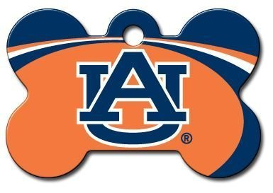 Officially Licensed NCAA Auburn University Tigers Bone Pet ID Tag