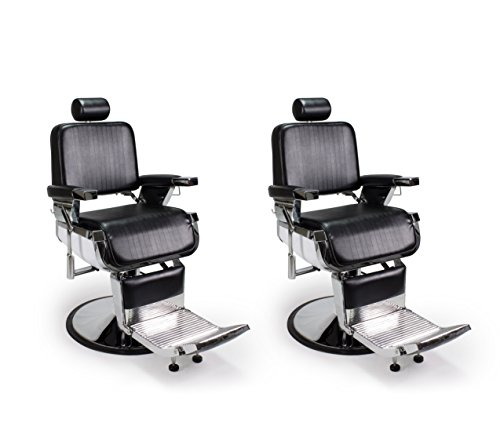 DUO 2 BLACK LINCOLN Barber Chairs Barbershop & Beauty Salon Furniture & Equipment by BERKELEY (Image #4)