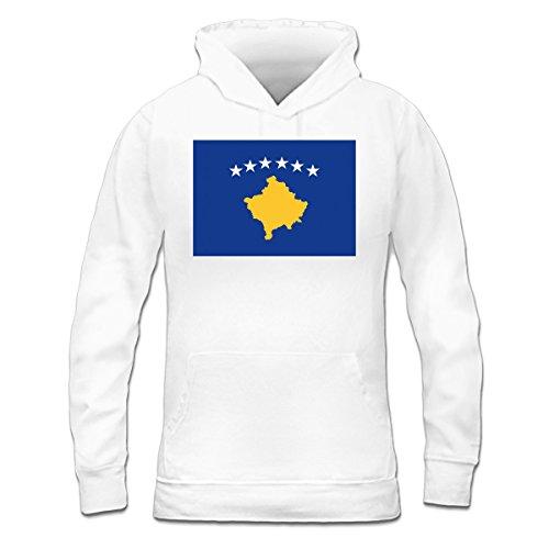 Sudadera con capucha de mujer Kosovo Flag by Shirtcity Blanco
