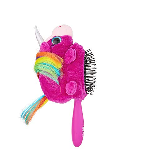 (Wet Brush Plush Detangler Hair Brush for Kids with Soft IntelliFlex Bristles, Unicorn Detachable Toy )