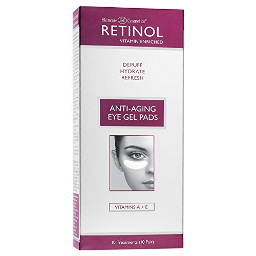 Retinol Anti-Aging Eye Gel Pads - The Original Retinol Instant De-Puff Treatment - Soothing Vitamin A Eye Gel Pads Reduce Puffiness & Refresh For A Quick, Visible Improvement in Appearance of Eyes