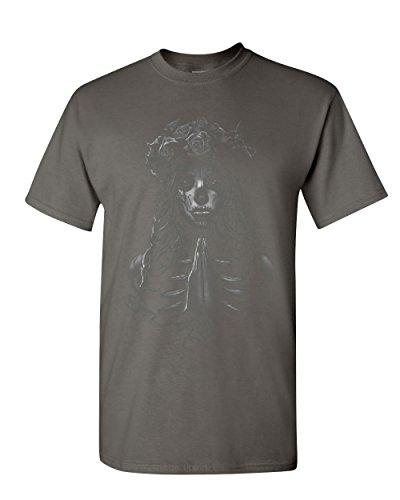 Pray Girl T-Shirt Calavera Day of The Dead Dia de Los Muertos Charcoal 5XL (Dia De Los Muertos Makeup For Men)
