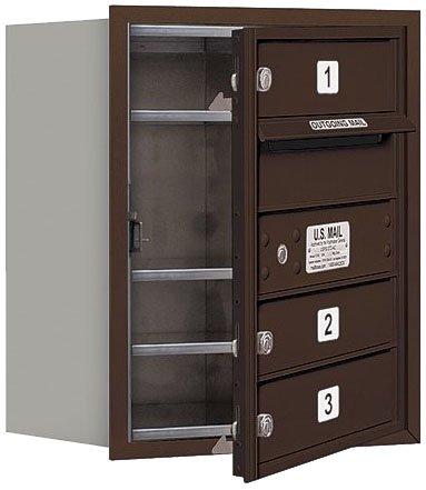 Horiz Mailbox, USPS, 3Dr, Bronze, FL, 20in