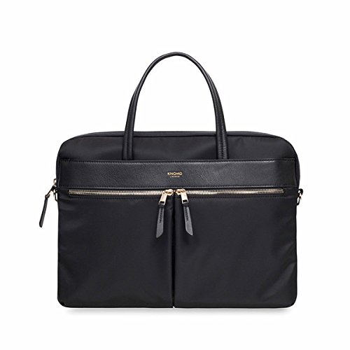 Knomo Luggage Women's Hanover Briefcase, Black, One Size by Knomo