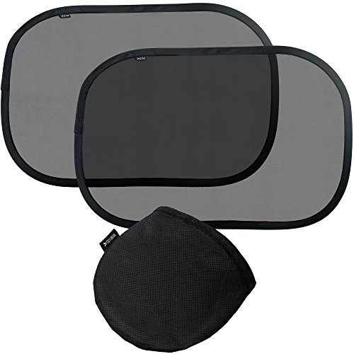 Car Window Shade (2 pack) | Baby UV-Safety Sun Shades | UPF50+ | FREE Carrying Pouch & Kids eBook | Static Cling Easy Installation | Cool and Relaxed Travel | Baby Shower Gift Box | Lifetime Warranty (Sun Shade Cling)