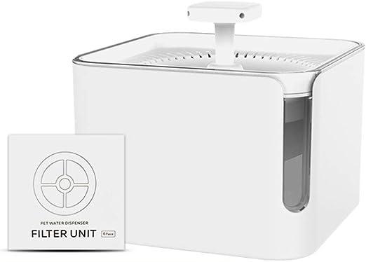 Bebedero automático para mascotas + juego de filtro de algodón, dispensador de agua para mascotas de gran capacidad de 3L, dispensador automático de circulación de filtro, adecuado para perros y g: Amazon.es: