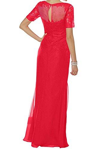 Abendkleider Damen Rot Schmaler Langes Schnitt Festlichkleider Brautmutterkleider La Braut Grün mia Spitze Partykleider tw6ZY