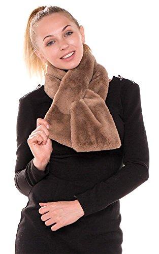 CCFW Women's Winter Faux Fur Scarf Wrap Collar Keyhole Shawl Shrug (Keyhole Scarf)