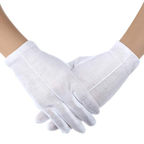 Zonon 3 Pairs White Child Costume Gloves Formal Kids Size Wrist Gloves Set for Boys and Girls Party Wedding Formal Pageant