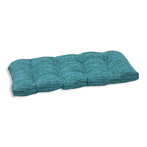 Pillow Perfect Outdoor/Indoor Remi Lagoon Wicker Loveseat Cushion