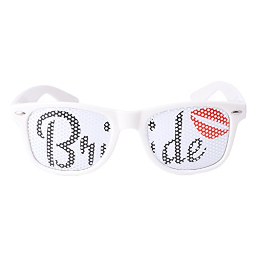 [Allrise Party Style Ball Glasses, Bride Sunglasses Fancy Dress Costume Hen Night Wedding Party Decor Gift(01)] (Hollywood Costumes Carnival 2017)
