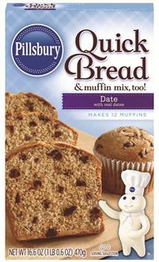 Pillsbury Date Quick Bread 16.6oz (Pack of 6)