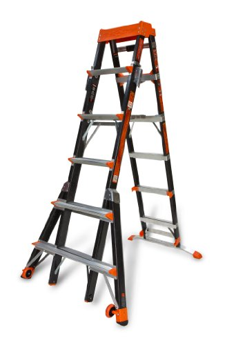 Outrigger Fiberglass - Little Giant Ladder Systems 15131-001 Select Step 6 to 10-Feet Adjustable Fiberglass Stepladder