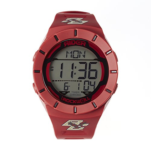 NCAA Boston College Eagles Men's Coliseum Watch, Adjustable, Crimson (Red Line Dual Timer Watch)