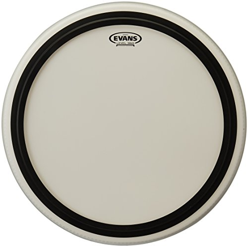 Evans EMAD Coated White Bass Drum Head, 22 Inch (Evans Bass White)