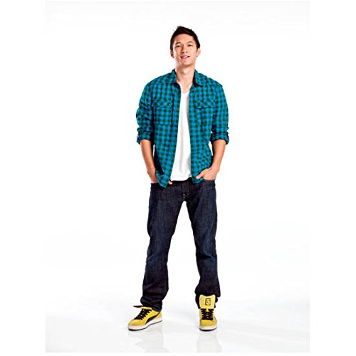 Harry Shum, Jr. 8 Inch x 10 Inch PHOTOGRAPH Glee (TV Series 2009 - 2015) Standing Hands in Pockets w/White Background kn