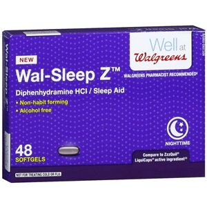 Walgreens Wal-Sleep Z Sleep Aid Softgels, 48 ea