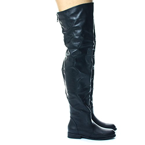 Blossom Slouchy Over Knee Thigh High Western Riding Boot, Extra Wide Calf (Knee Wide High Boots Extra Calf)