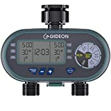 Gideon Dual Valve Water Hose Irrigation Sprinkler System Controller with Automatic Timer Easy Set Up and Simple to Use Digital Valve System - Battery Powered