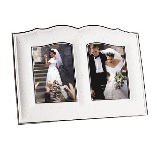 Lenox Opal Innocence Double 5 x 7 Frame (Opal Frame Wedding)