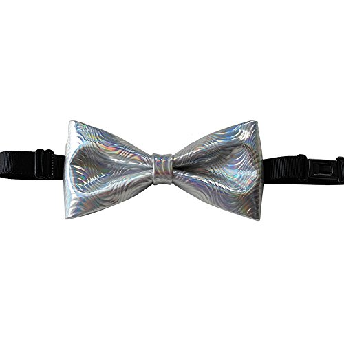 Cloud Rack Bow Tie Black Leather Silver