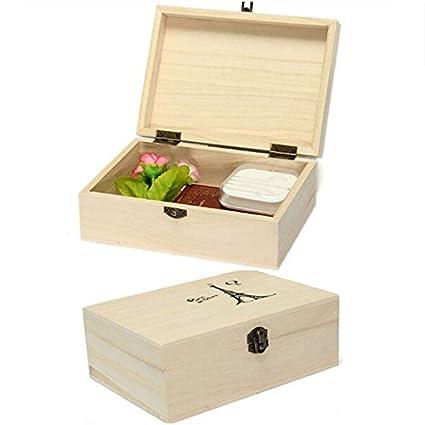 Amazon.com: liangxiang Caja de joyas de madera natural ...