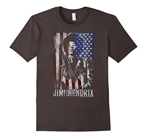 Mens Jimi Hendrix Distressed American Flag Vintage Rock T-Shirt XL Asphalt Jimi Hendrix Rock T-shirts