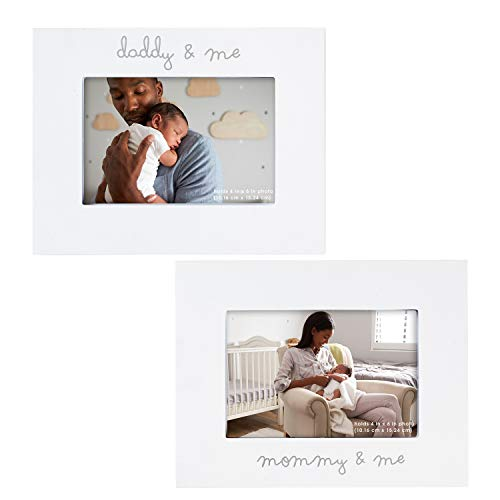 - C.R. Gibson ''Mommy and Me'' and ''Daddy and Me'' Baby Photo Frame Set 2 Piece, 9'' x 7''
