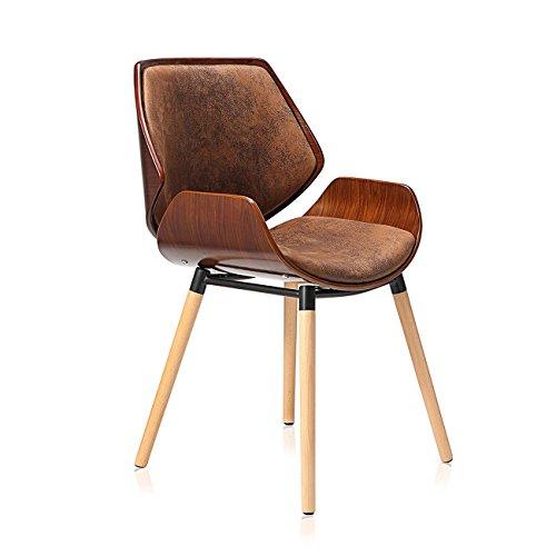 Vintage Bürostuhl Küchenstuhl Stuhl Kunstleder Sessel Makika Design Holzbeine Braun Maxim Retro Hocker Wohnzimmerstuhl Esszimmerstuhl In tshrQd