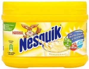 Nesquik Chocolate Drink Mix - Nestle Nesquik Banana Flavor Milk Shake 300 G (1 box)