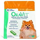 Frontline Merial Oravet Dental Hygiene Chew for X-Small Dogs (up to 10 lbs), Dental Treats for Dogs, 30 Count