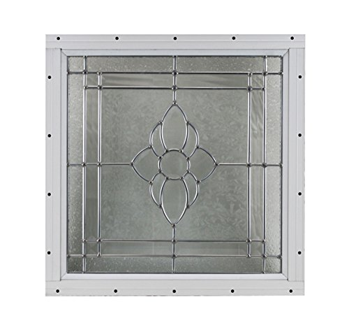 16'' x 16'' Decorative Cut Glass Flush Mount Shed Window by Shed Windows and More