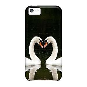 CaroleSignorile CVI3710JdSi Protective Cases For Iphone 5c(swans Love Heart)