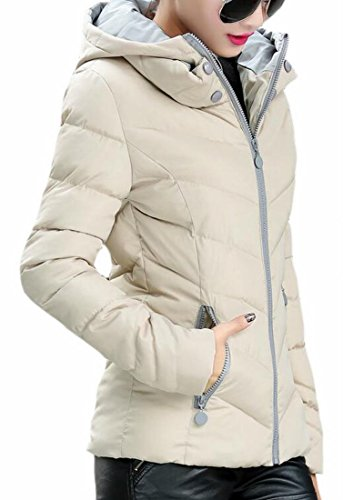 Zip Fit Full Parka Hooded Thicken Khaki Women Coat Down today Slim Winter UK Jackets q4Xw8X