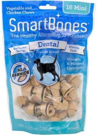 SmartBones Mini Dental Chews 16 Pack