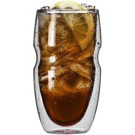 Serafino Double Wall Iced Tea and Coffee Insulated Drinking Glasses, 16 oz, Set of 6