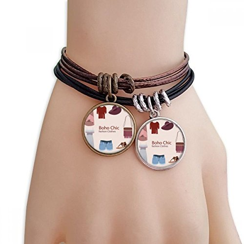 DIYthinker Bohe mia wind Fashion Clothes Girl Bracelet Double Leather Rope Wristband Couple Set from DIYthinker