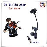 Professional Lapela Instrument Violin Microphone Mandolin Viola Microfone for Shure Wireless Transmitter XLR Mini Mikrofon