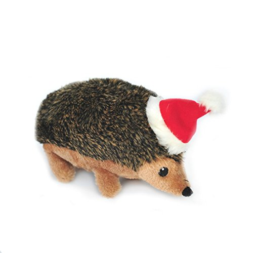 ZippyPaws - Holiday Hedgehog Plush Squeaky Dog Toy, Christmas Pet Gift - Large (Dog Christmas Toys Large)