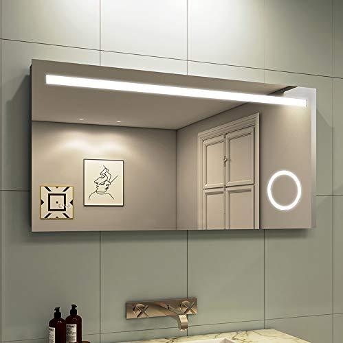 Duschdeluxe LED Wall Mounted Bathroom Mirror | Illuminated LED Bathroom Mirrors 48