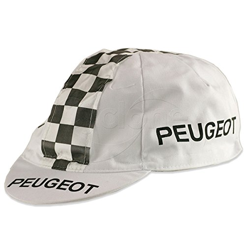 Bella Capo Retro Cap, White/Black Checker, Peugeot