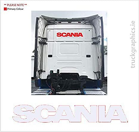 Desconocido Pegatina de Scania en la Parte Trasera de la Cabina 29: Amazon.es: Coche y moto