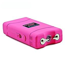 Monster Stun Gun Rechargeable Stun Gun with LED Flashlight, 18,000,000-Volt (Pink)