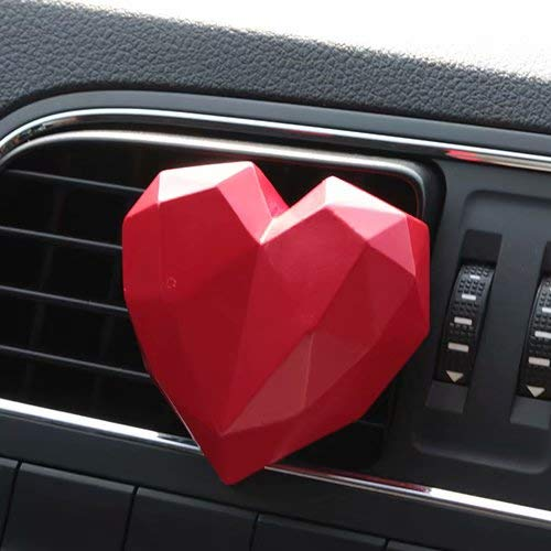 xuanpai Inner Car Air Conditioner Vent Clip Sweet Red Heart Shape Decor Home Bedroom Ornament Creative Gifts