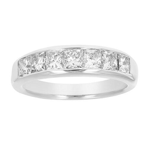 1.50 CT Princess Diamond Wedding Band 14K Gold Size 7 by Vir Jewels